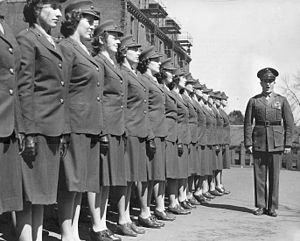 United States Marine Corps Women's Reserve -  First group of Marine Corps women officer candidates at Mount Holyoke College in 1943