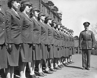 United States Marine Corps Women's Reserve - First group of Marine Corps Women's Reserve officer candidates arrive at Mount Holyoke College in 1943. Official USMC photograph