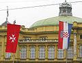 Flag of SMOM and Croatia Zagreb.jpg