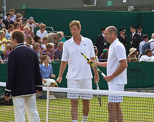 Peter Fleming (tennis) - Fleming and Guy Forget, Wimbledon 2010