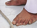 Flickr - DavidDennisPhotos.com - Sailor's Foot on Felucca in Luxor.jpg
