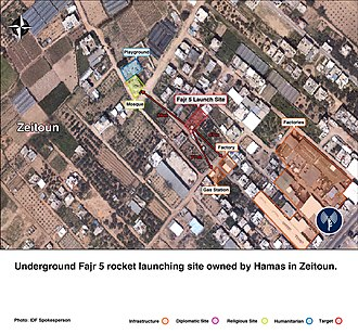 A Hamas rocket launch site and its civilian surroundings. Flickr - Israel Defense Forces - Long-Range Rocket Launch Site in Zeitoun Neighborhood.jpg
