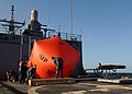 Flickr - Official U.S. Navy Imagery - Sailors inflate the 'killer tomato' on the flight deck of USS Underwood..jpg