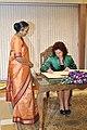 Flickr - Saeima - Saeimas priekšsēdētāja Solvita Āboltiņa tiekas ar Indijas parlamenta priekšsēdētāju (1).jpg