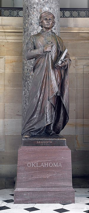 Sequoyah (Ream) - The statue in the National Statuary Hall Collection