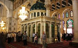 Flickr - jemasmith - Shrine to St John the Baptist, Umayyad Mosque, Damascus..jpg