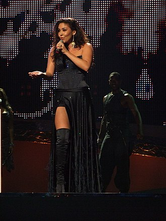 Hind Laroussi - Hind performing at the Eurovision Song Contest 2008.