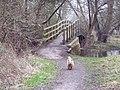 Footbridge on footpath to Bemerton - geograph.org.uk - 330829.jpg