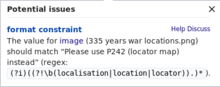 "The value for image (335 years war locations.png) should match ""Please use P242 (locator map) instead"" (regex: [cannot be transcribed])."