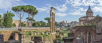 El foro de César y el Templo de Venus Genetrix.