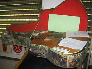 Govan Mbeki - Govan Mbeki's guitar at Robben Island (Fort Hare Archives, 2016)