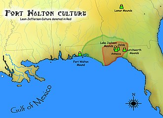Fort Walton culture - Geographic extent of Fort Walton Culture