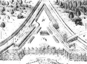 Fort Caroline - Fort Caroline shown in an old etching