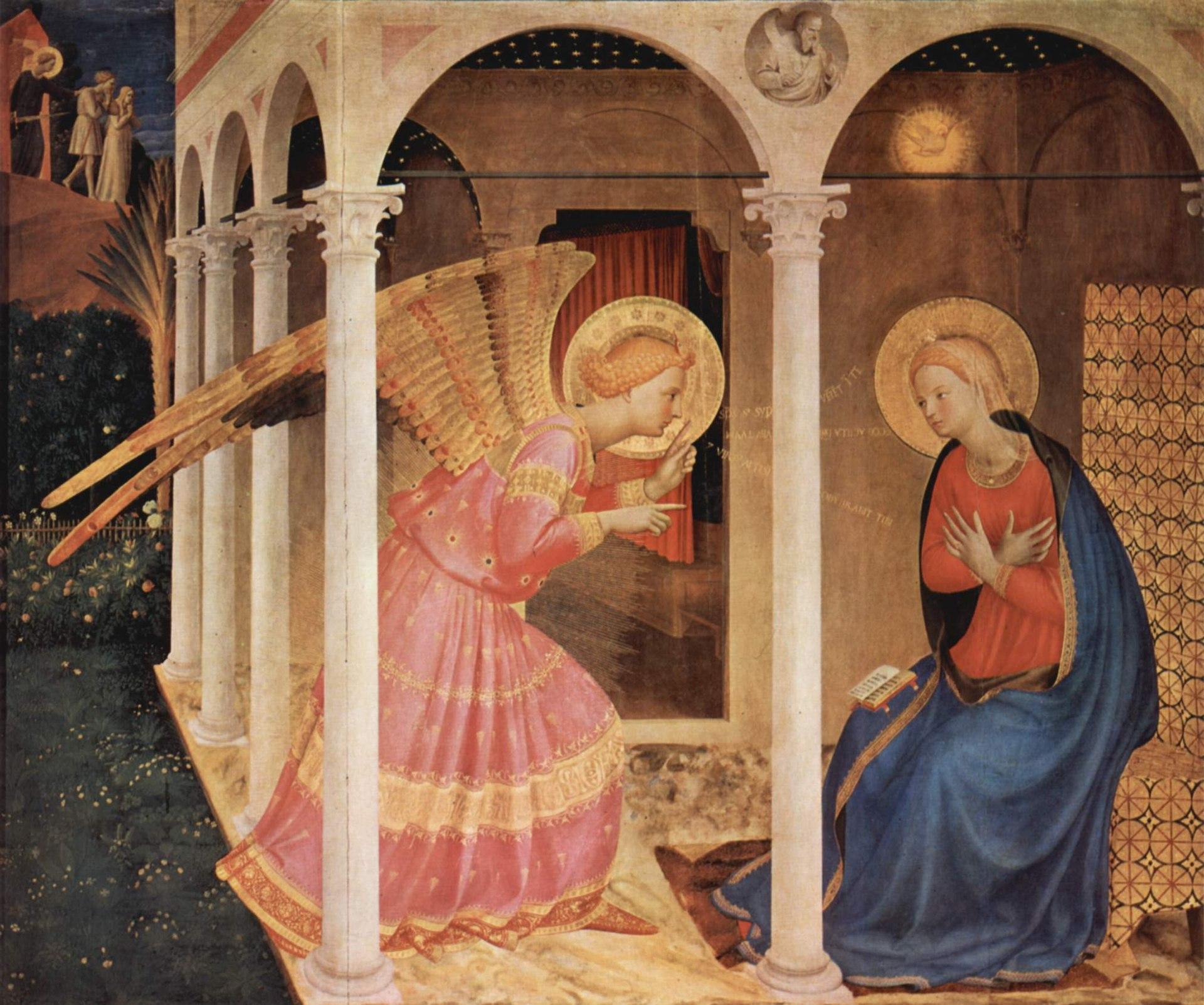 Fra Angelico, Annunciation (c. 1438), Diocesan Museum, Cortona