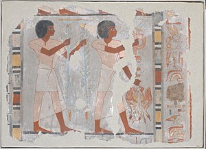 TT63 - Image: Fragment of wall painting from the Tomb of Sebekhotep MET DP234743