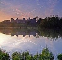 Framlingham Castle reflected in The Mere,at dawn. - geograph.org.uk - 1293414.jpg