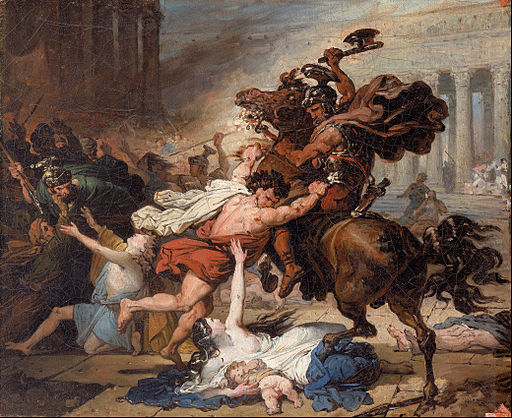 François-Joseph Heim - Study for Destruction of Jerusalem by the Romans - Google Art Project