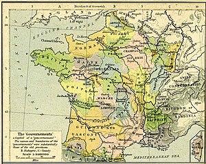 Anciennes provinces 1789.