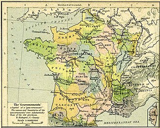 Kingdom of France - Provinces in 1789.