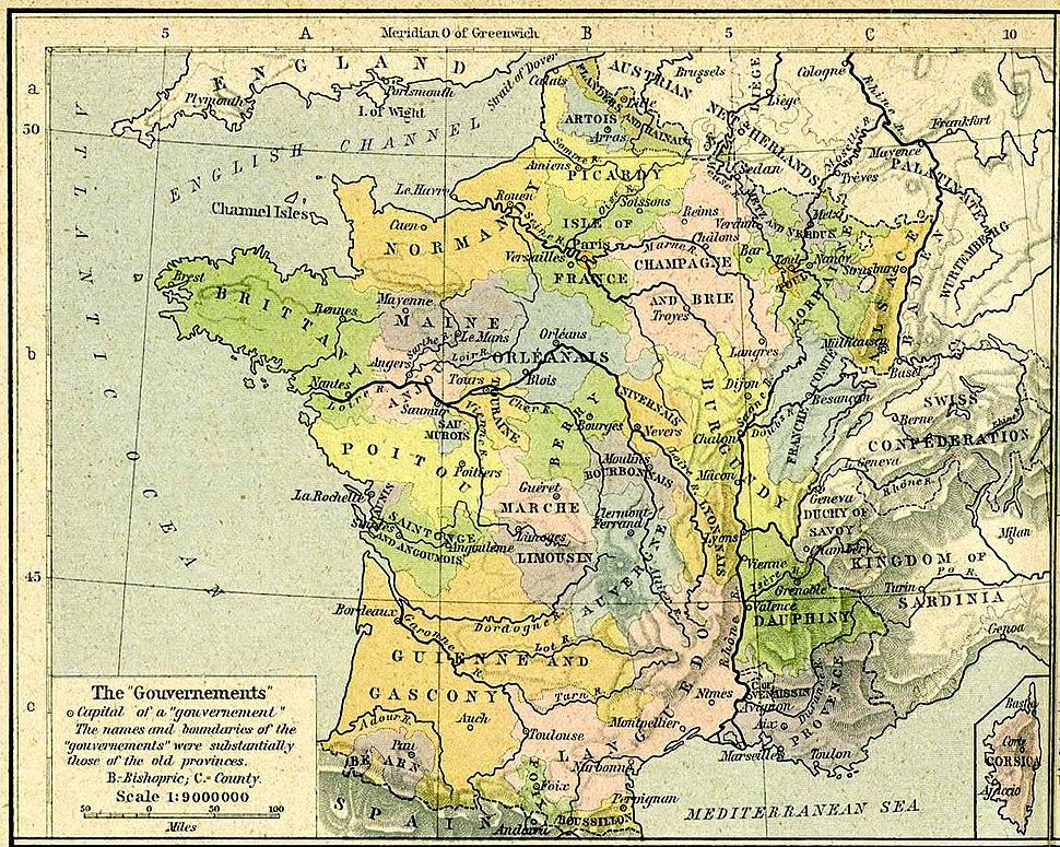 France anciennes provinces 1789