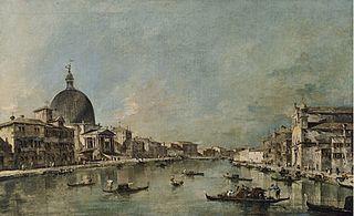 The Grand Canal with San Simeone Piccolo and Santa Lucia