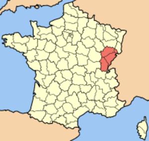Enfariné noir - The Franche-Comté region where Enfariné noir was once widely planted