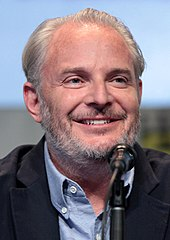 Francis Lawrence smiling at the 2015 San Diego Comic Con International.