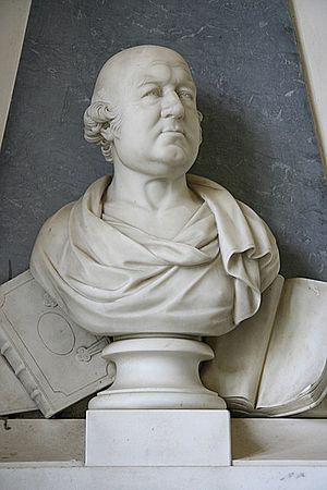 Francis Willis (physician) - The Nollekens bust of Willis in the church at Greatford