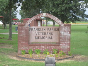 Franklin Parish, Louisiana - Franklin Parish Veterans Memorial sign in Winnsboro, Louisiana