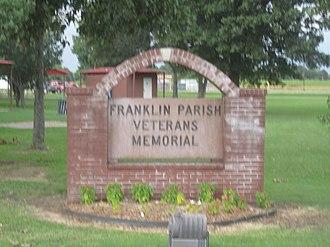 Franklin Parish, Louisiana - Franklin Parish Veterans Memorial sign in Winnsboro, Louisiana