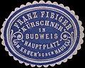 Franz Fibiger, Kürschner in Budweis (Reklamemarke).jpg