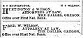 Fred Wilson attorney ad 27 Oct 1897.jpg