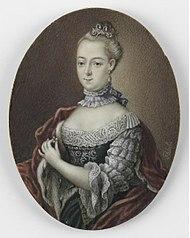 Frederica Carolina van Brandenburg (1735-91). Dochter van hertog Franz Josias van Saksen Coburg Saalfeld