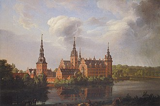 Johan Christian Dahl - Frederiksborg Slot, 1814