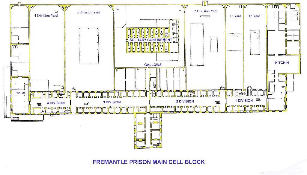 File Fremantleprisonmaincellblockmap Jpg Wikimedia Commons