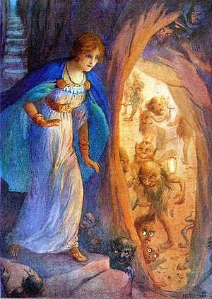 Freya and the Dwarves by Harry George Theaker 1920.jpg
