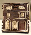 Front panel of decorated wooden box, wood with ivory inlay, Gebel Adda, 300-400 AD - Royal Ontario Museum - DSC09790.JPG