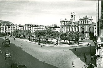 Plaza Mayor, Valladolid - The Main Square in the 1950s.