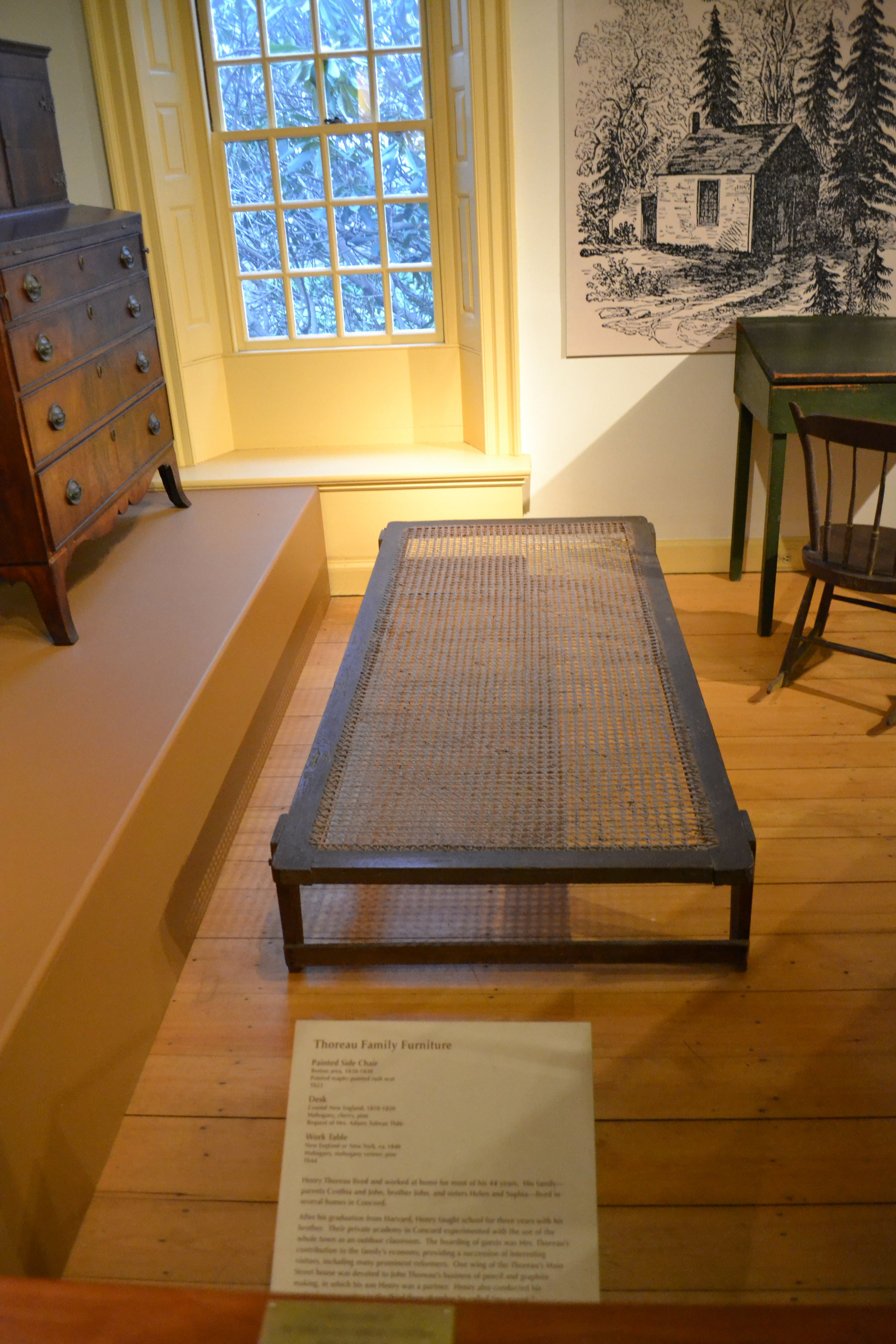 File:Furniture From The House At Walden. Bedstead