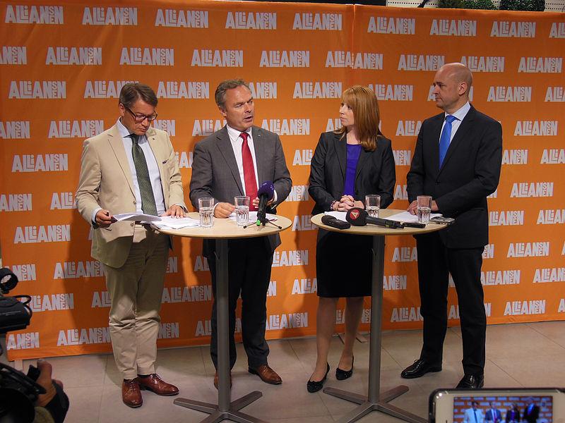 File:Göran Hägglund, Jan Björklund, Annie Lööf och Fredrik Reinfeldt, 2013-09-09 03.jpg