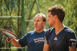 Dominic Thiem - Dominic Thiem with coach Günter Bresnik, 2016
