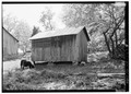 GENERAL VIEW FROM NORTHEAST - Kenmuir, Corn Crib, Route 613, Trevilians, Louisa County, VA HABS VA,55-TREV.V,8E-1.tif