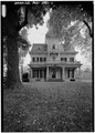 GENERAL VIEW OF NORTHWEST (FRONT) ELEVATION - Gambrill House, Urbana Park, Frederick, Frederick County, MD HABS MD,11-FRED.V,18-1.tif