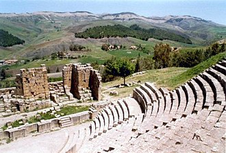 Algeria - Ancient Roman theatre in Djémila