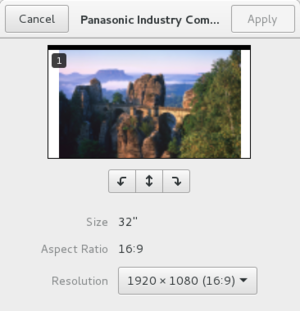 RandR - Image: GNOME 3.14 settings displays