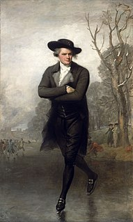 <i>The Skater</i> painting by Gilbert Stuart