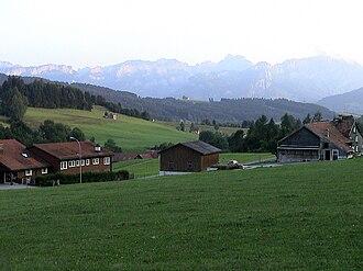 Gais - Scattered farm houses near Gais