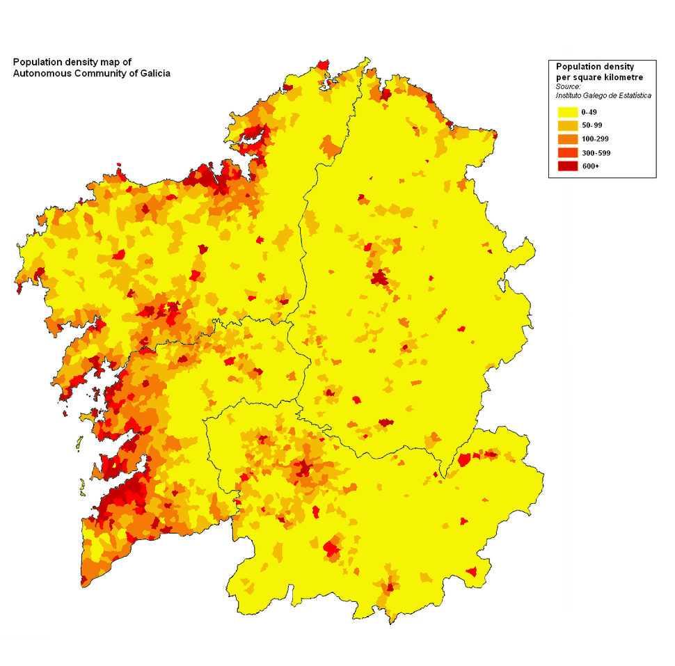Galicia densidade parroq