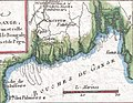 "Ganges Delta- ""bouches du Gange"" or mouths of the Ganges, 1780 Raynal and Bonne Map of Northern India - Geographicus - IndeSuperieure-bonne-1780 (cropped).jpg"