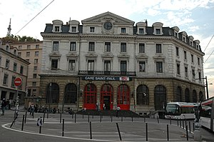 Gare de Lyon-Saint-Paul - The main entrance of the railway station